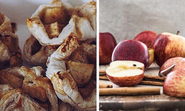 Frasiga smördegsknyten med äpple och kanel
